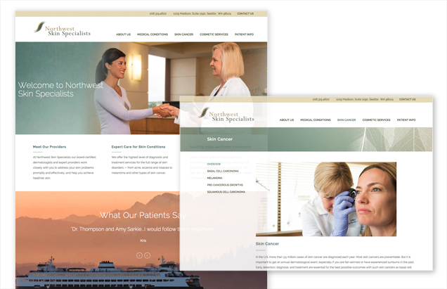 Responsive website for medical professional