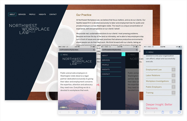 Responsive site for law firm